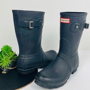 Hunter Mid Calf Boots Size 9W/7M